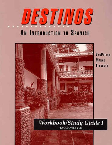 Destinos : An Introduction to Spanish 1st 1992 (Workbook) edition cover