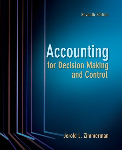 Accounting for Decision Making and Control  7th 2011 edition cover