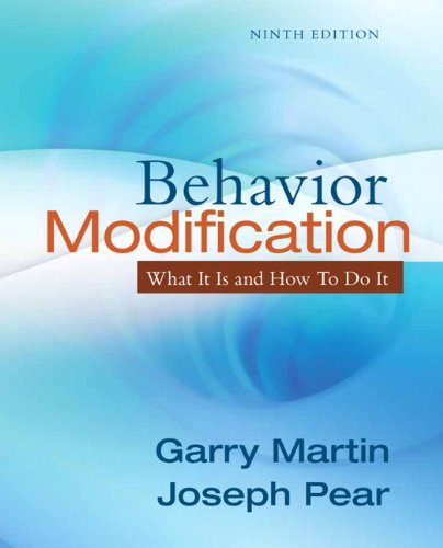 Behavior Modification What It Is and How to Do It 9th 2011 edition cover