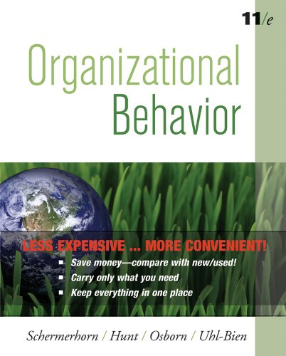 Organizational Behavior:  11th 2010 9780470556726 Front Cover