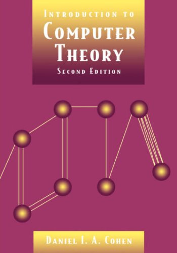 Introduction to Computer Theory  2nd 1997 (Revised) edition cover