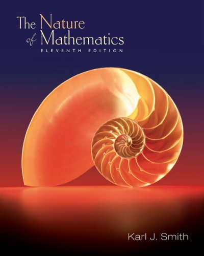 Nature of Mathematics (with Cengagenow and Personal Tutor Printed Access Card)  11th 2007 edition cover