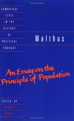 Malthus An Essay on the Principle of Population  1992 edition cover