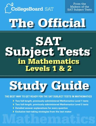 Official SAT Subject Tests in Mathematics, Levels 1 and 2   2006 (Student Manual, Study Guide, etc.) edition cover