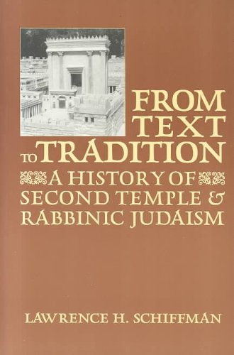 From Text to Tradition 1st edition cover