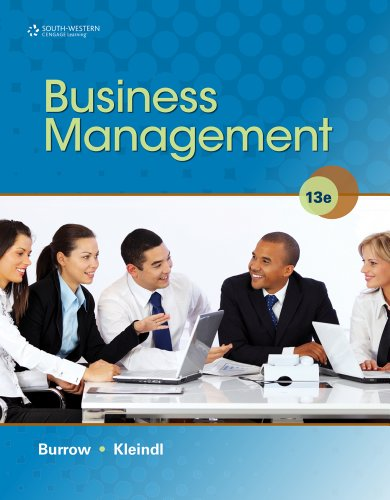 Business Management  13th 2013 edition cover