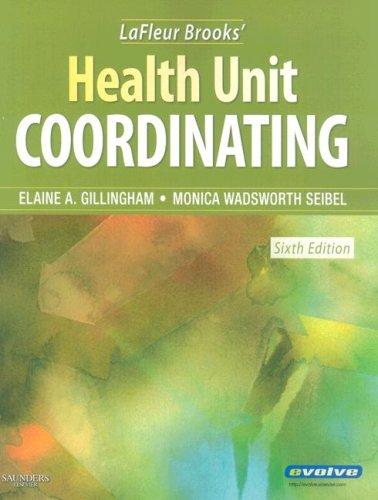LaFleur Brooks' Health Unit Coordinating  6th 2008 edition cover
