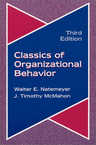 Classics of Organizational Behavior 3rd 2001 edition cover
