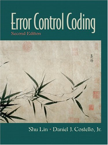 Error Control Coding  2nd 2005 9780130426727 Front Cover