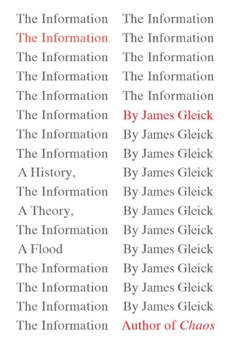 Information A History, a Theory, a Flood  2011 edition cover