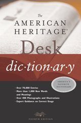 American Heritage Desk Dictionary  4th 2003 9780618117727 Front Cover