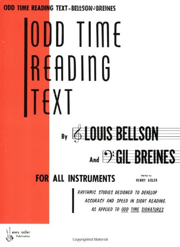 Odd Time Reading Text For All Instruments  1985 edition cover
