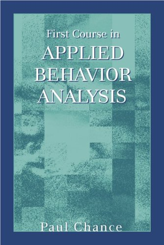 First Course in Applied Behavior Analysis   1998 edition cover