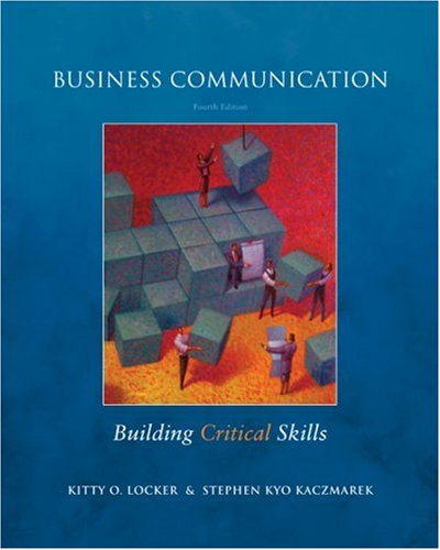 Business Communication Building Critical Skills 4th 2009 edition cover