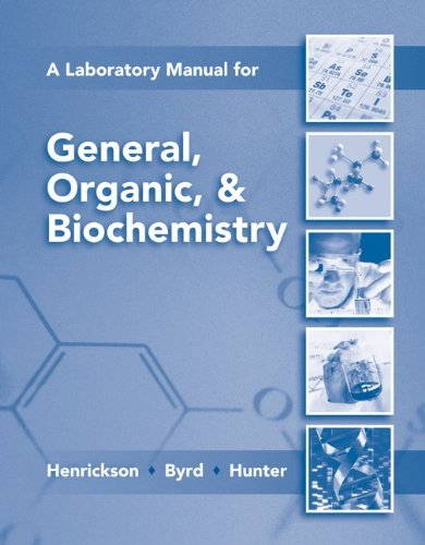 General, Organic, and Biochemistry  7th 2011 (Lab Manual) edition cover