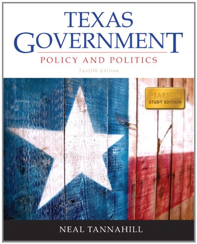Texas Government  12th 2013 (Revised) edition cover