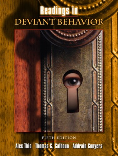 Readings in Deviant Behavior  5th 2008 edition cover