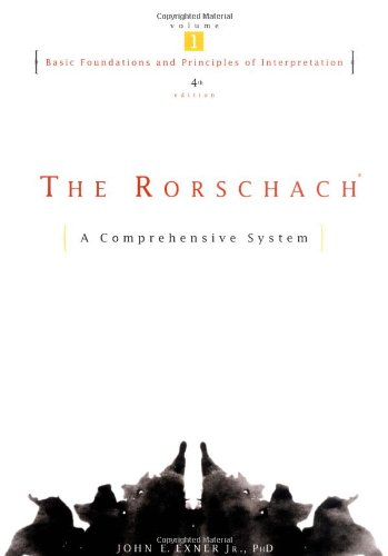 Rorschach Basic Foundations and Principles of Interpretation 4th 2003 (Revised) edition cover