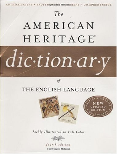 American Heritage Dictionary of the English Language  4th 2006 edition cover