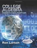 College Algebra: Real Mathematics, Real People  2015 edition cover