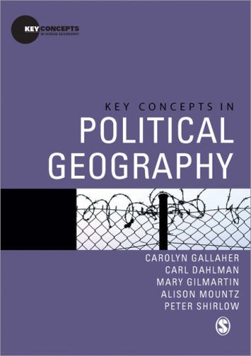 Key Concepts in Political Geography   2009 edition cover
