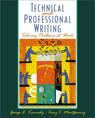 Technical and Professional Writing Solving Problems at Work  2002 edition cover