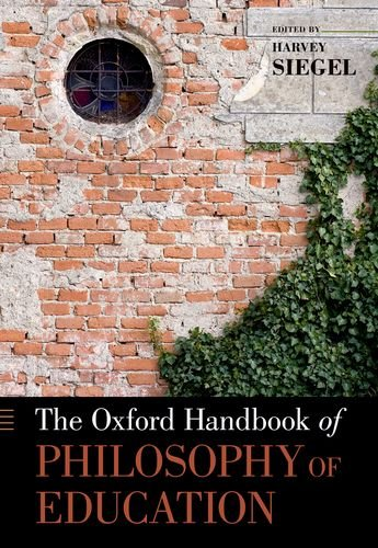 Oxford Handbook of Philosophy of Education   2012 edition cover