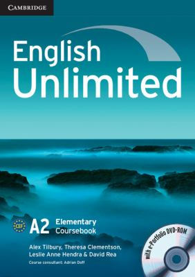 English Unlimited Elementary Coursebook with E-Portfolio   2010 9780521697729 Front Cover