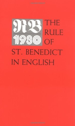 RB 1980 The Rule of St. Benedict N/A edition cover
