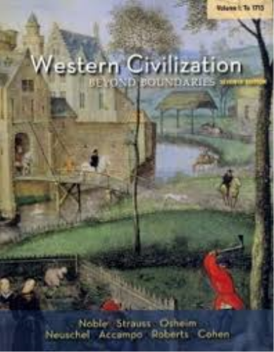 Western Civilization Beyond Boundaries - To 1715 7th 2014 edition cover