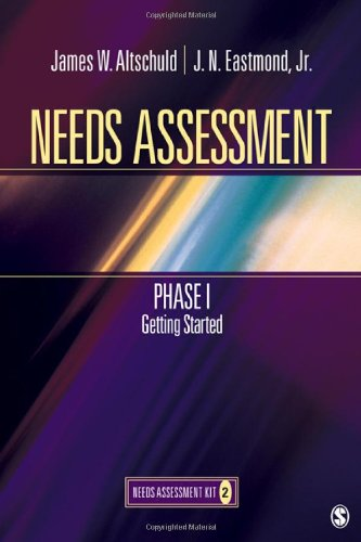 Needs Assessment Phase I, Getting Started   2010 edition cover