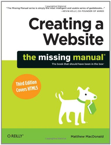 Creating a Website  3rd 2011 edition cover