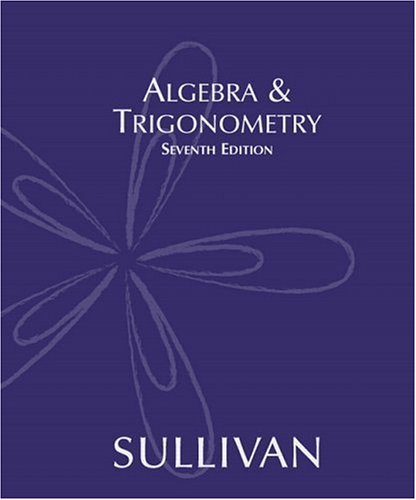 Algebra and Trigonometry  7th 2005 9780131430730 Front Cover