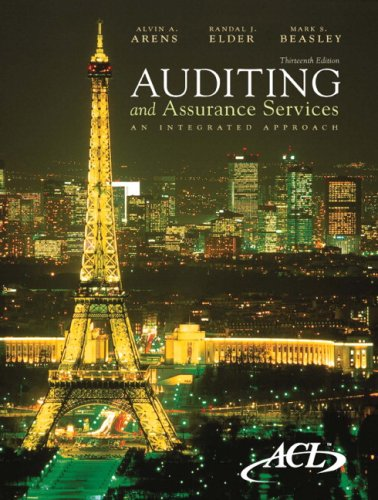 Auditing and Assurance Services An Integrated Approach 13th 2010 edition cover