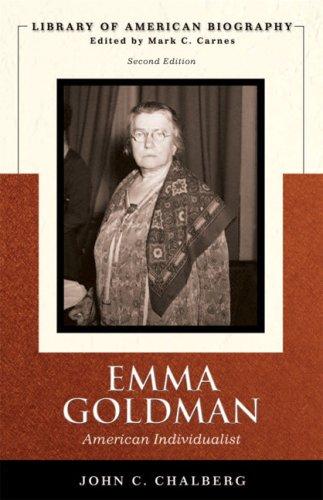 Emma Goldman American Individualist 2nd 2008 edition cover