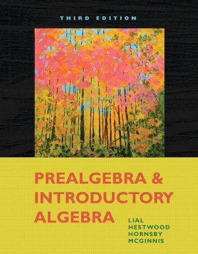 PStudent Solutions Manual for Prealgebra and Introductory Algebra  3rd 2010 9780321578730 Front Cover