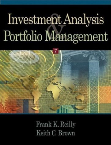 Investment Analysis and Portfolio Management  7th 2003 edition cover