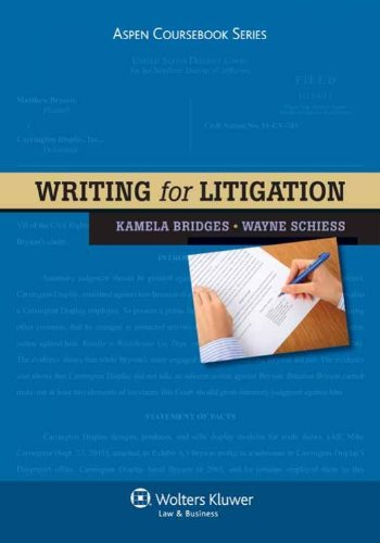 Writing for Litigation   2011 edition cover