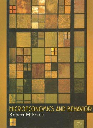 Microeconomics and Behavior  7th 2008 edition cover