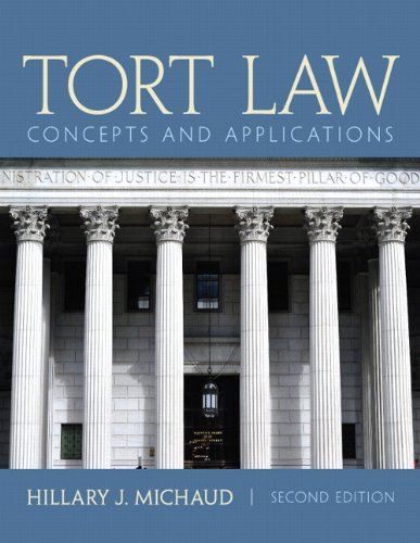 Tort Law Concepts and Applications 2nd 2014 edition cover