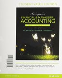 Horngren's Financial and Managerial Accounting, the Financial Chapters, Student Value Edition  5th 2016 9780133851731 Front Cover
