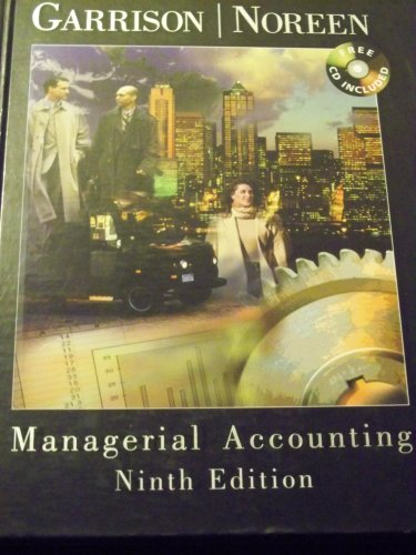 Managerial Accounting  9th 9780256260731 Front Cover