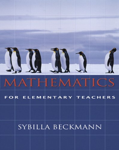 Mathematics for Elementary Teachers   2005 9780321357731 Front Cover