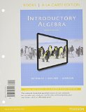Introductory Algebra, Books a la Carte Edition, Plus MyMathLab -- Access Card Package  12th 2015 9780321951731 Front Cover