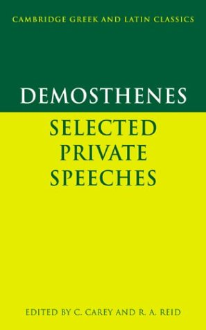 Demosthenes Selected Private Speeches  1985 9780521283731 Front Cover