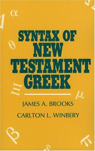 Syntax of New Testament Greek  N/A edition cover