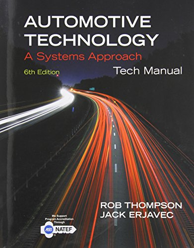 Automotive Technology Tech Manual: A Systems Approach  2014 edition cover