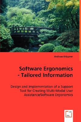 Software Ergonomics - Tailored Information N/A 9783836494731 Front Cover