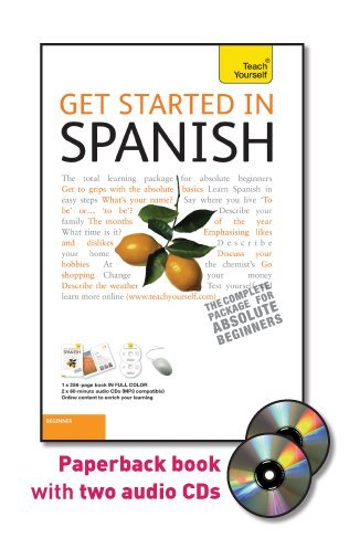 Get Started in Spanish  5th 2011 edition cover
