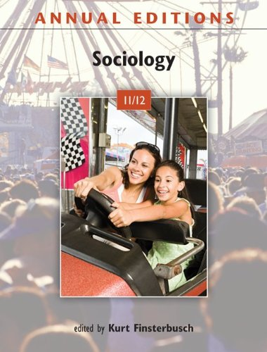 Annual Editions: Sociology 11/12  39th 2012 edition cover